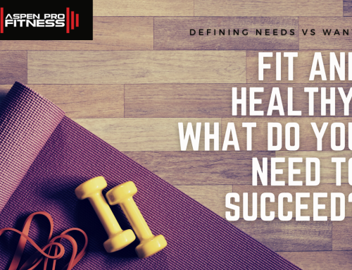 FIT AND HEALTHY: What do you need to succeed?